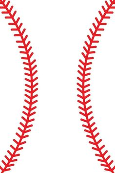 Line clipart red  art vector Baseball Baseball