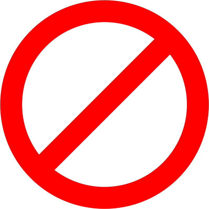 Line clipart red Clipart sign (PNG) No IMAGE