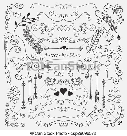Rustic clipart line And Floral  20