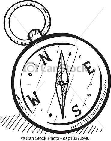 Compass clipart sketch Compass style of EPS compass