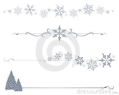 Lines clipart snowflake (75+) divider Snowflake art lines