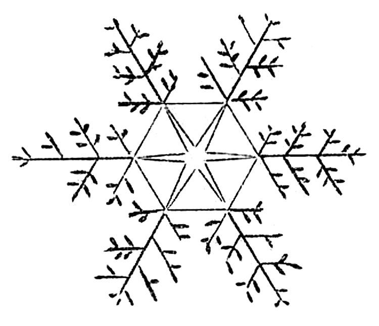 Lines clipart snowflake Graphics Art Clip Snowflakes Pretty