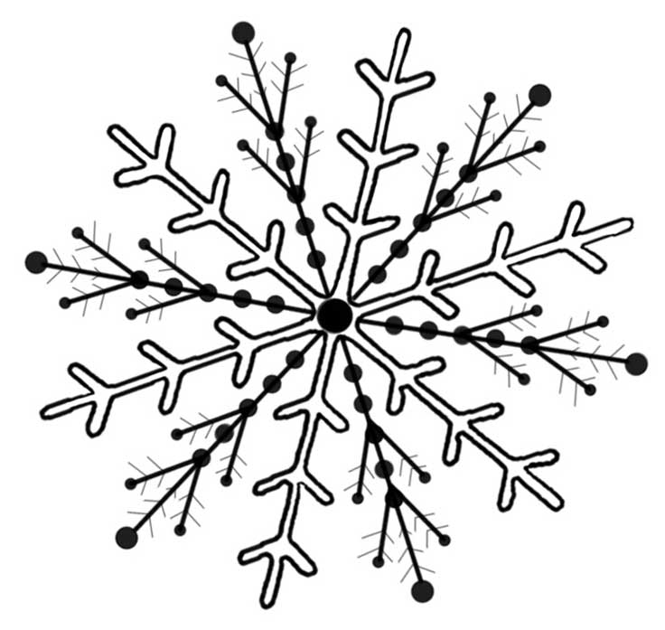 Templates  clipart snowflake #5