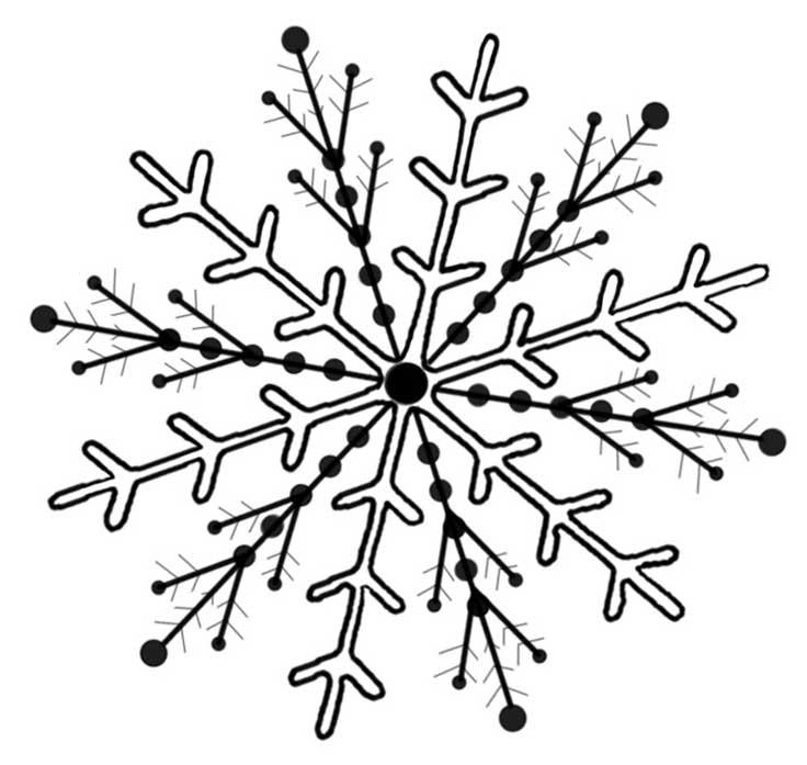 Lines clipart snowflake Art Clip Clip  Art