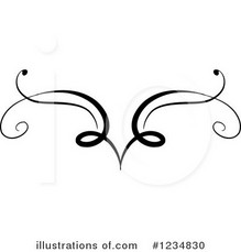 Vignette clipart fancy line #8