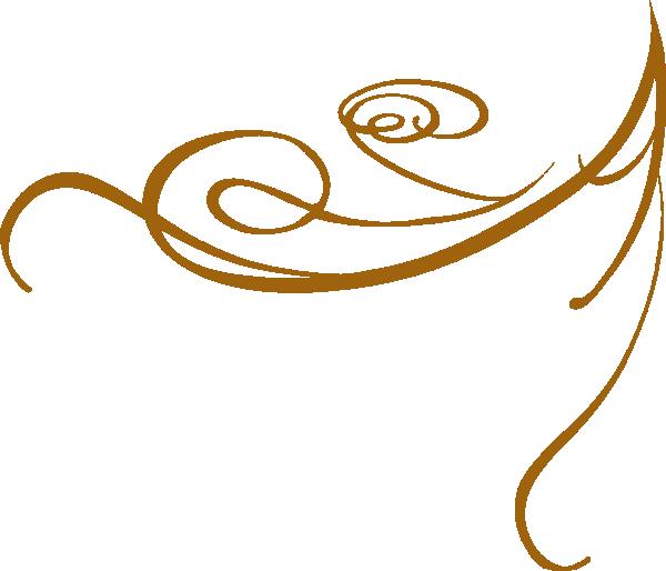 Curl clipart swirl accent Clip Gold  Swirl Decorative