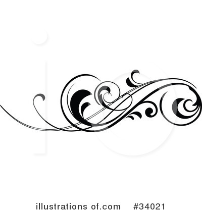 Line clipart swirly pattern Or be pattern for could