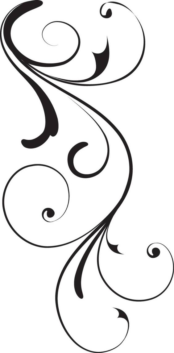 Line clipart swirly pattern Image Image  Online Op