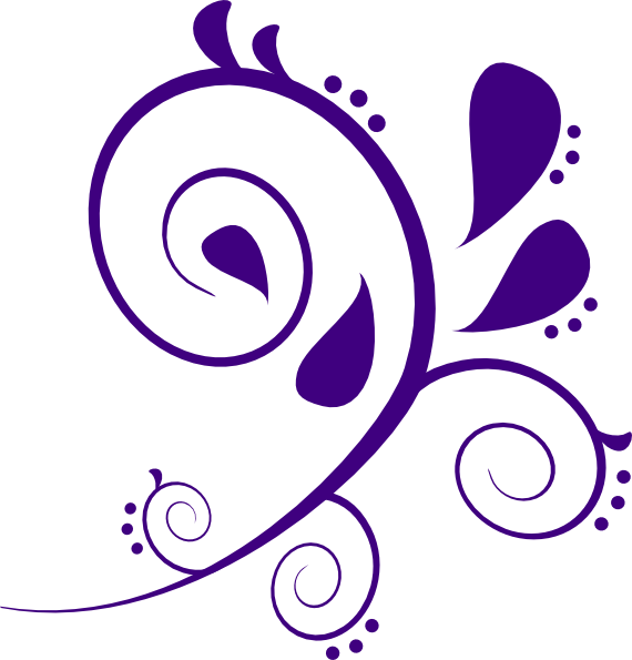 Swirl clipart lilac  Swirl clipart art royalty