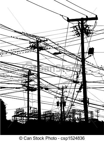 Lines clipart telephone wire Vector  Art telephone of