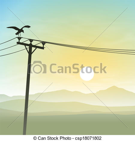 Lines clipart telephone wire Sunrise csp18071802 with Misty Lines
