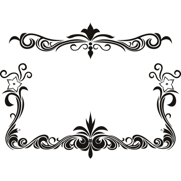 Elegance  clipart top page border Transfers Wall Best 25+ about