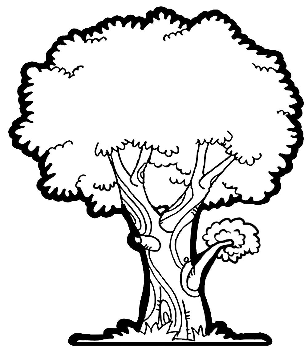 Cherry Tree clipart black and white Tree Clipart Free Free Tree