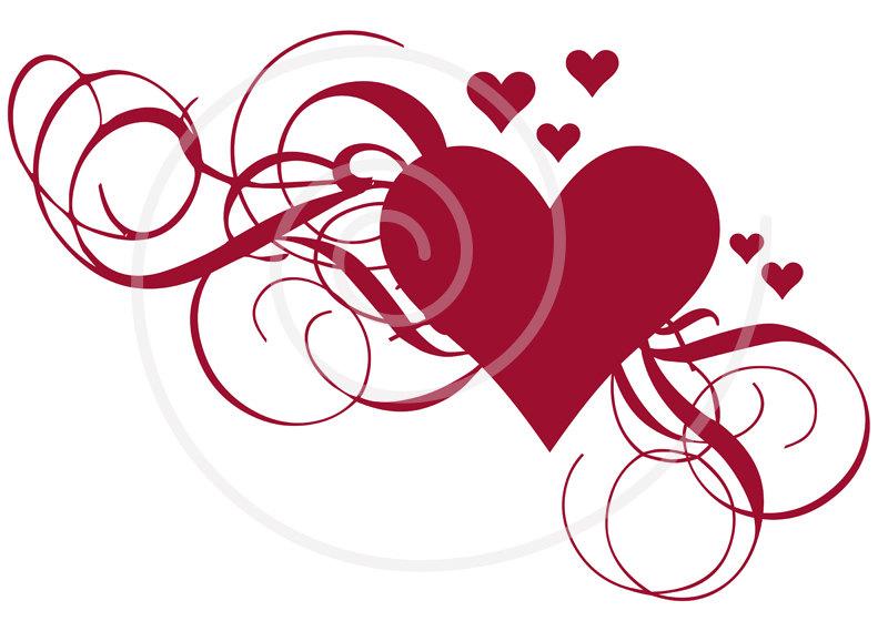 Card clipart red heart Art clip Wedding ClipartAndScrap invitation