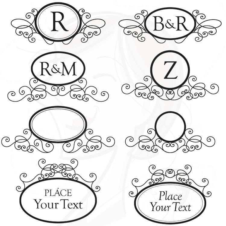 Swirl clipart monogram Free 17 for Clip Wedding