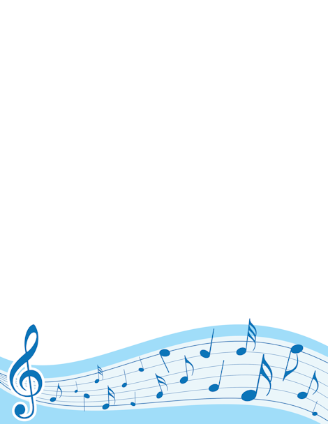 Holydays clipart music note Blue Sheet  and treble