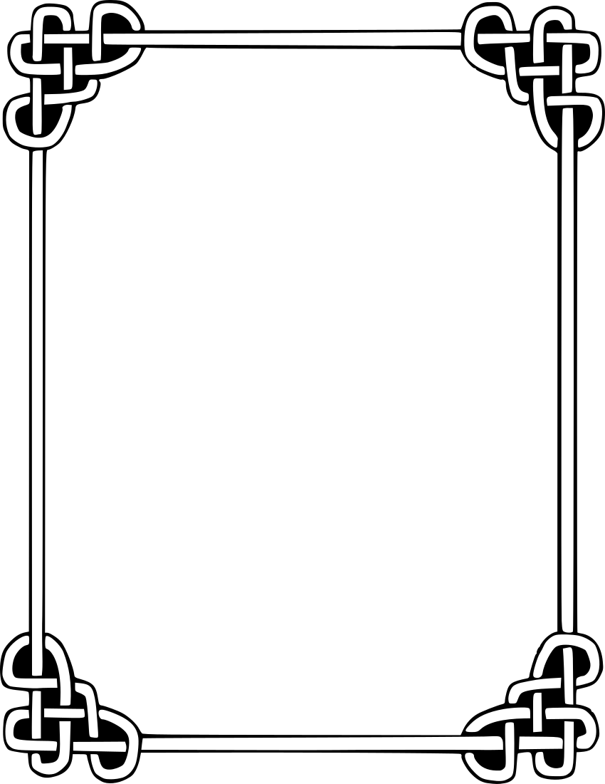Rope clipart simple color border #4