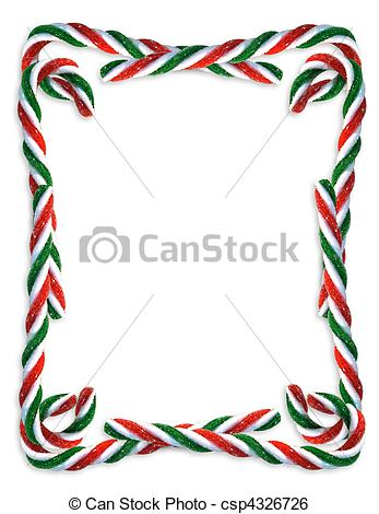 Lines clipart candy cane Border csp4326726 Stock of
