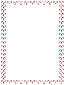 Lines clipart candy cane Free Christmas Borders: Art Vector