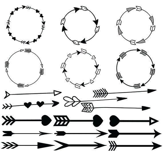Lines clipart circle Clipart svg Arrow vector images