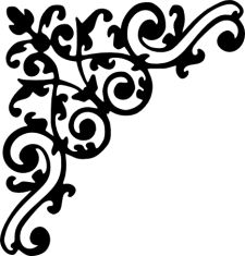 Scroll clipart decorative accent Flourish : Clip Handcrafted Creations!