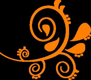 Orange clipart paisley 107 clipart #art clipart 6495