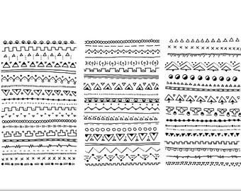 Lines clipart doodle Lines Hi Mega Border INSTANT