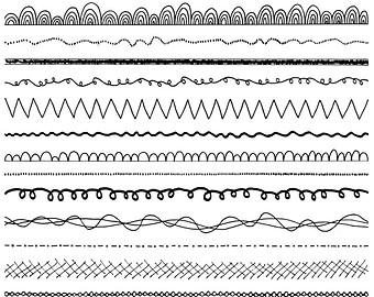 Lines clipart doodle Doodle Set Clip Use Doodle