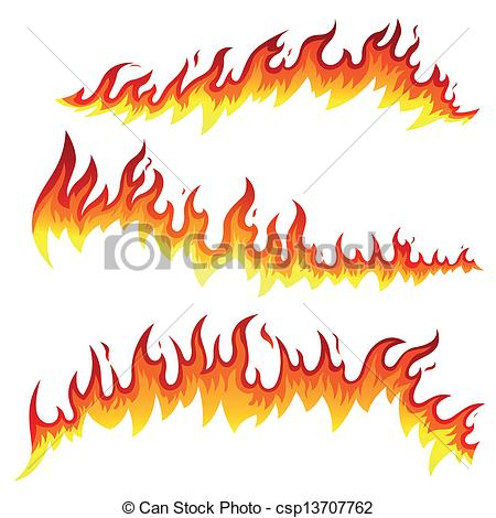 Lines clipart fire Of Fire Art Vector Vector