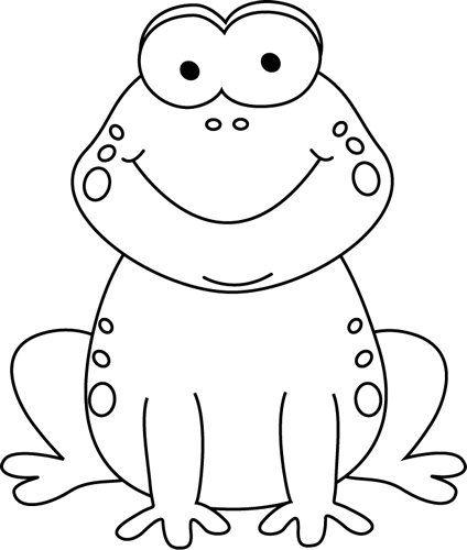 Cartoon clipart black and white Frog Black and  march