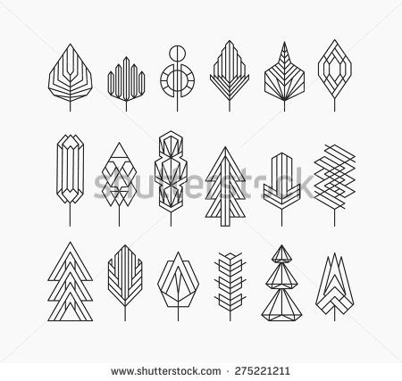 Lines clipart graphic art Vector on & Stock Tree