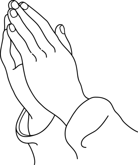 Lines clipart hand Praying Hands Hands Art Line