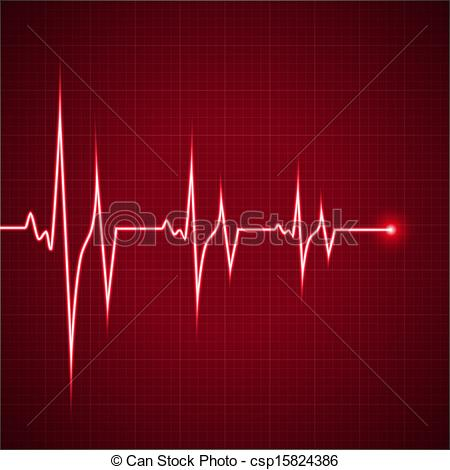 Lines clipart heart rhythm Heart heart  rhythm Vector