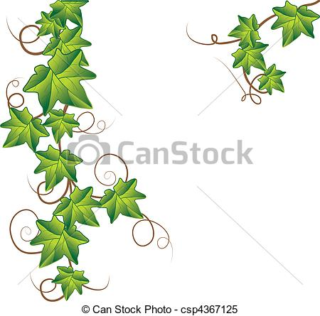 Lines clipart ivy Vector ivy Green of