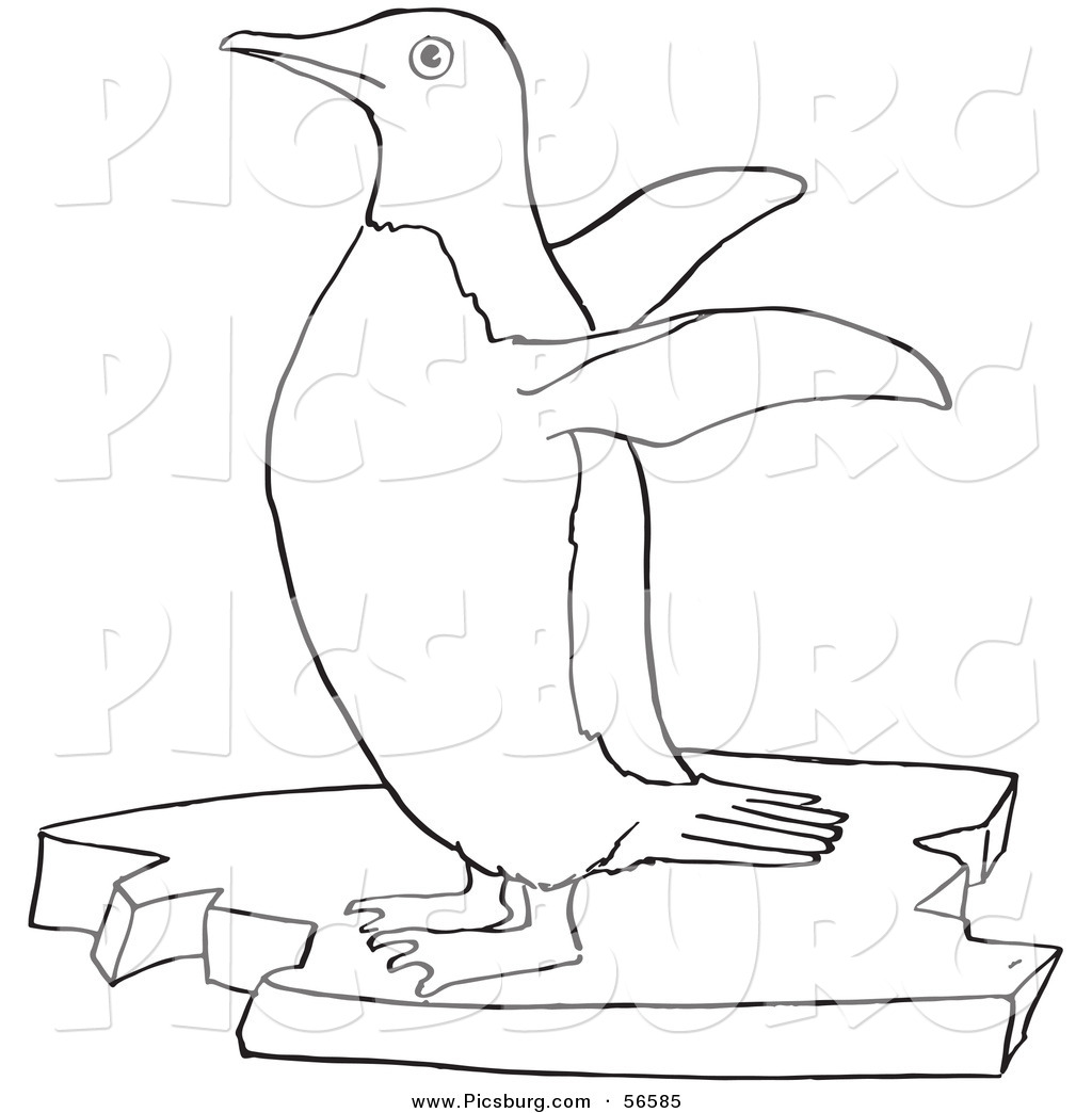 Drawn penguin ice clipart Of a Art Floating Wings