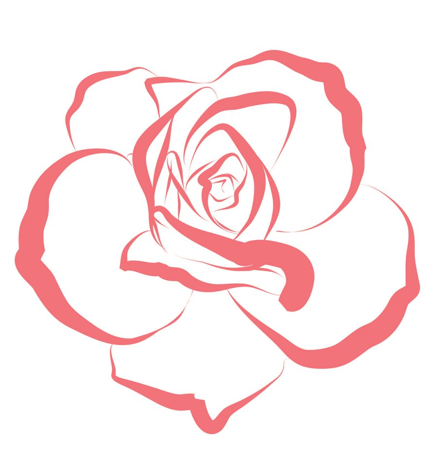 Drawn red rose pink rose Rose Images hoontoidly: Drawing Simple