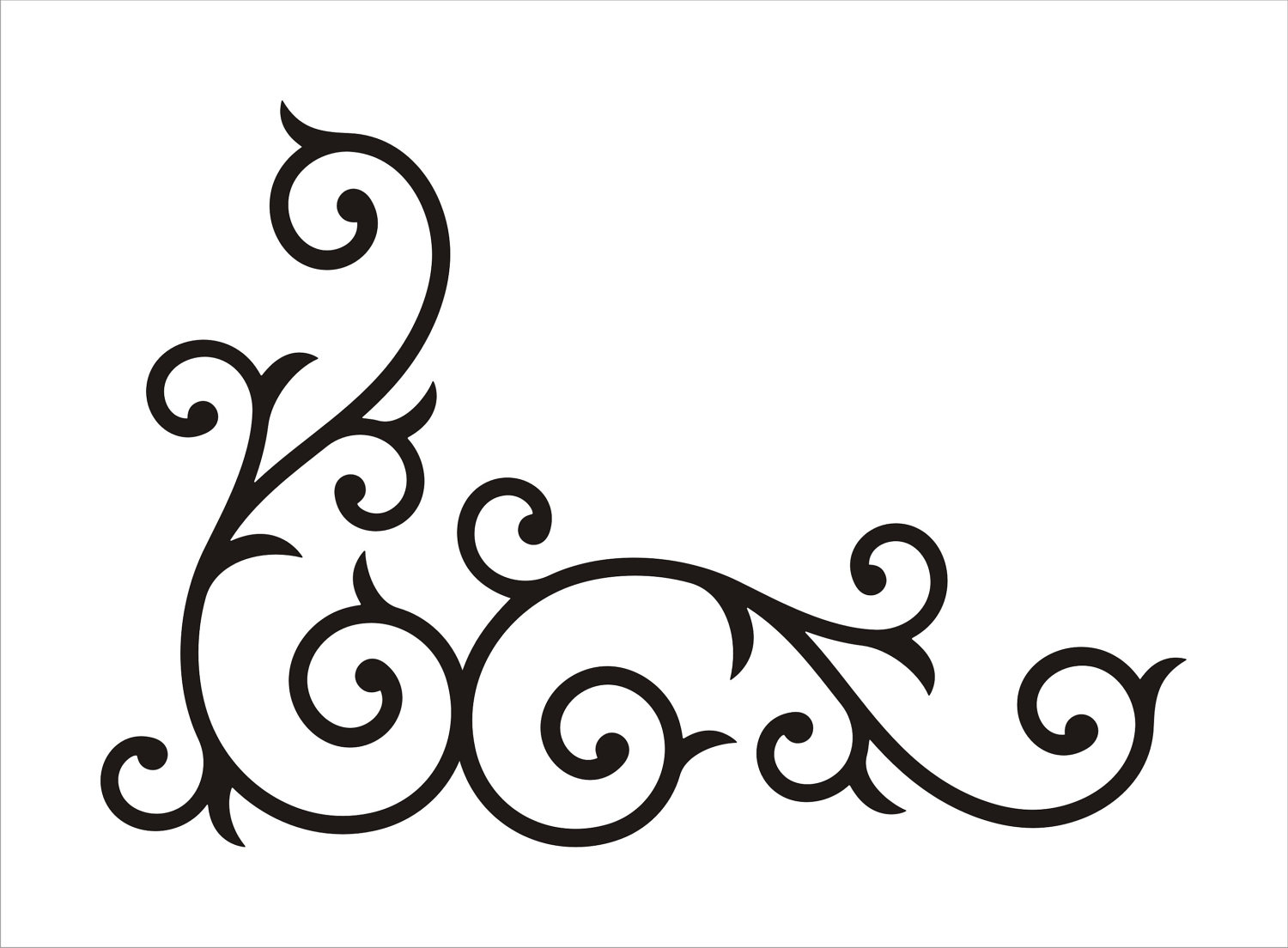 Simple clipart scrollwork Scroll floral scroll clipart Decorative