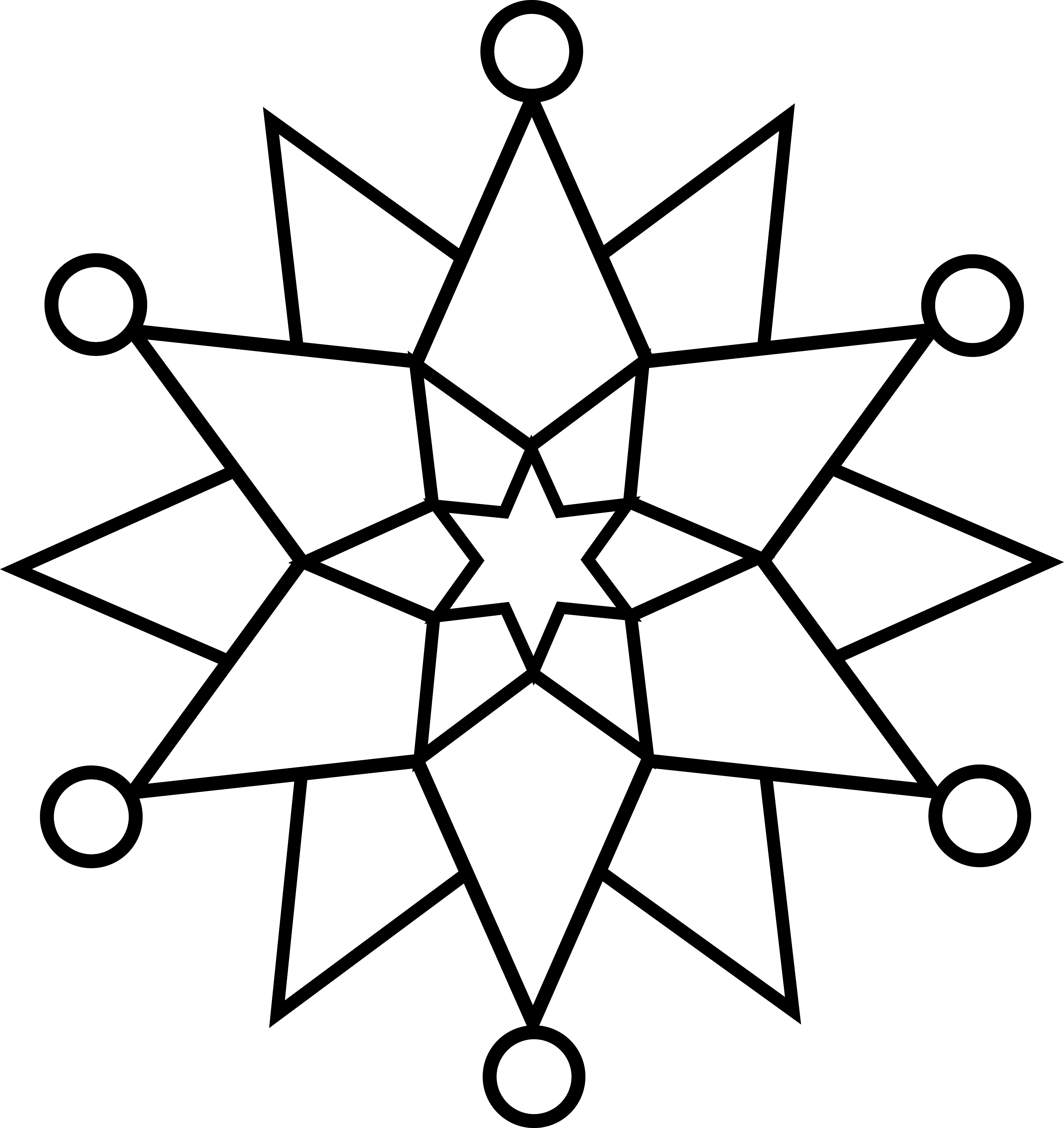 Decoration clipart black and white Art Line Clip Free Snowflake