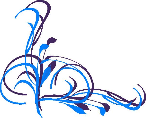Blue Flower clipart swirl flower  art art clip Swirl