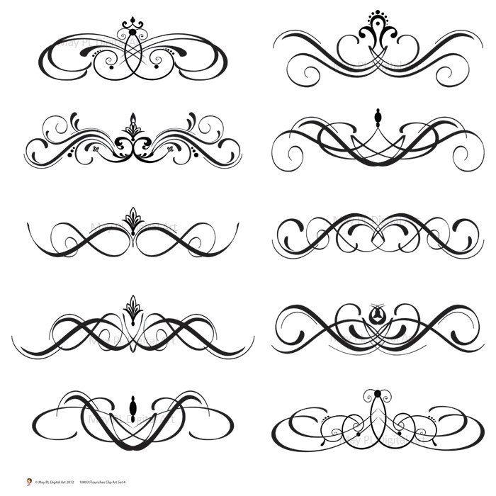 Swirl clipart calligraphy Flourish flourish Painted items Google