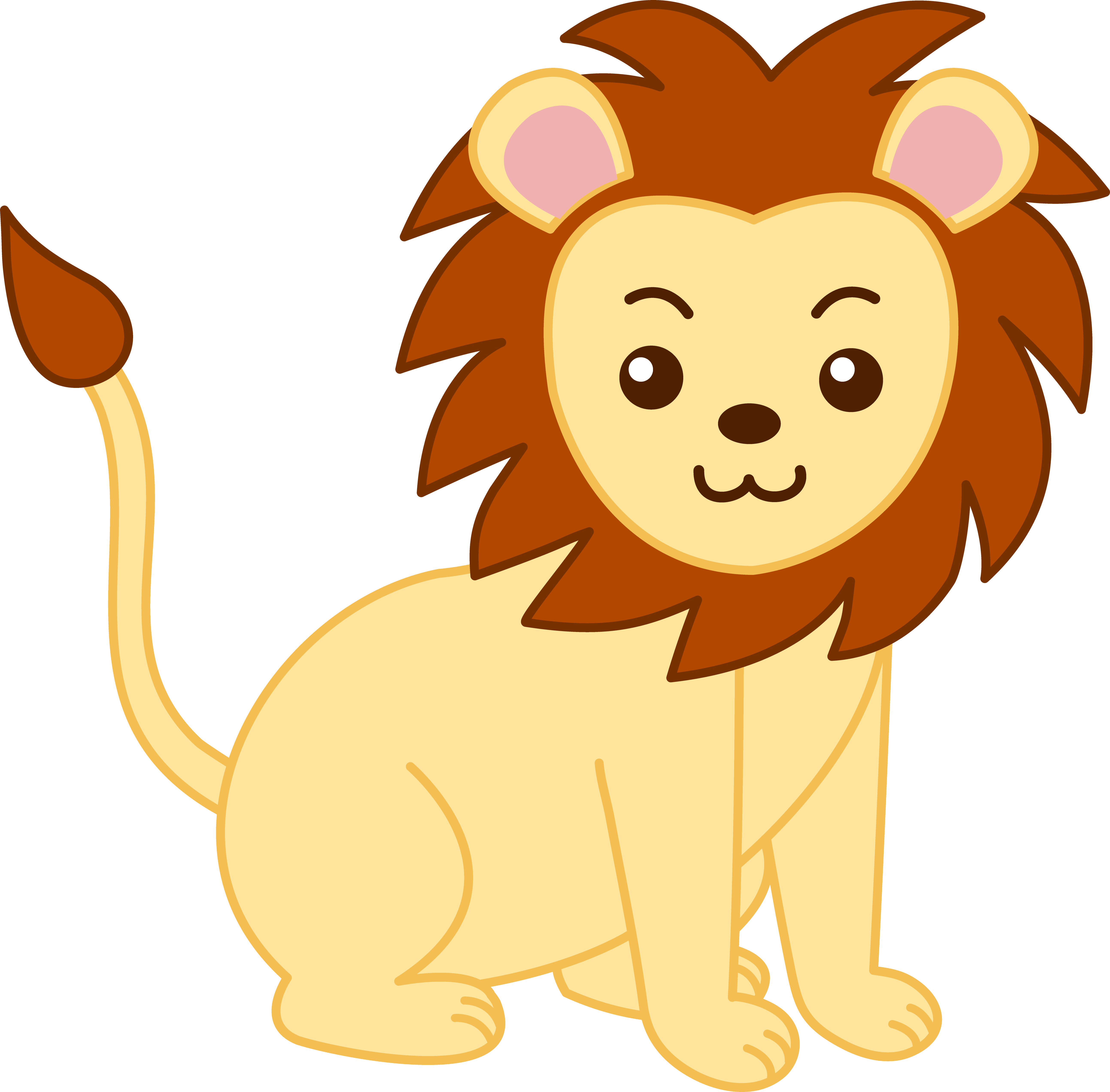 Animal clipart baby lion Free com lion Cliparting clip