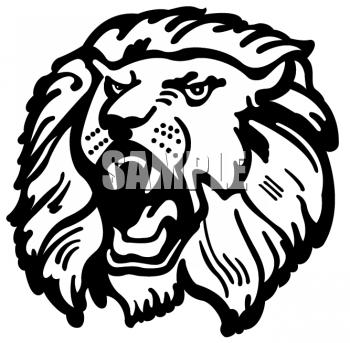 Lion clipart aggressive #2