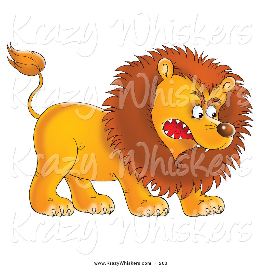 Lion clipart aggressive #3