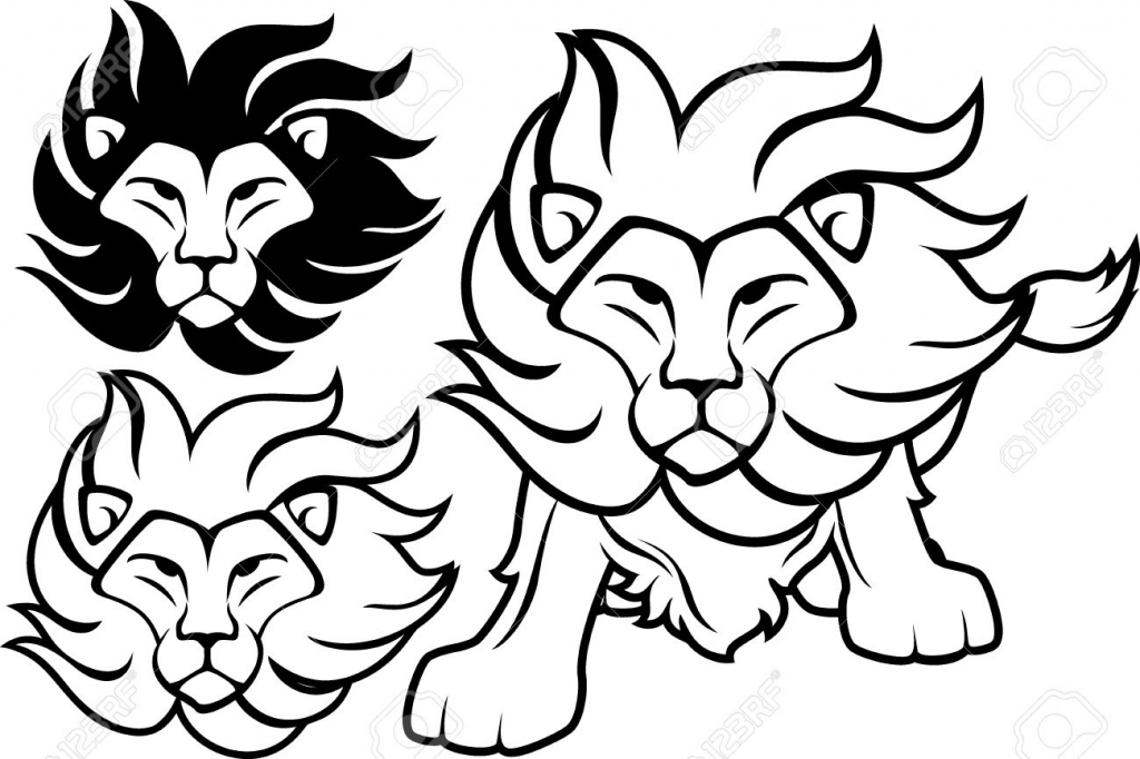 Lion clipart easy #6