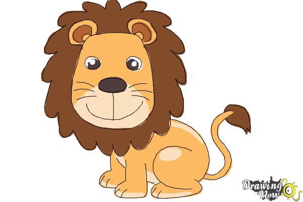 Lion clipart easy #4
