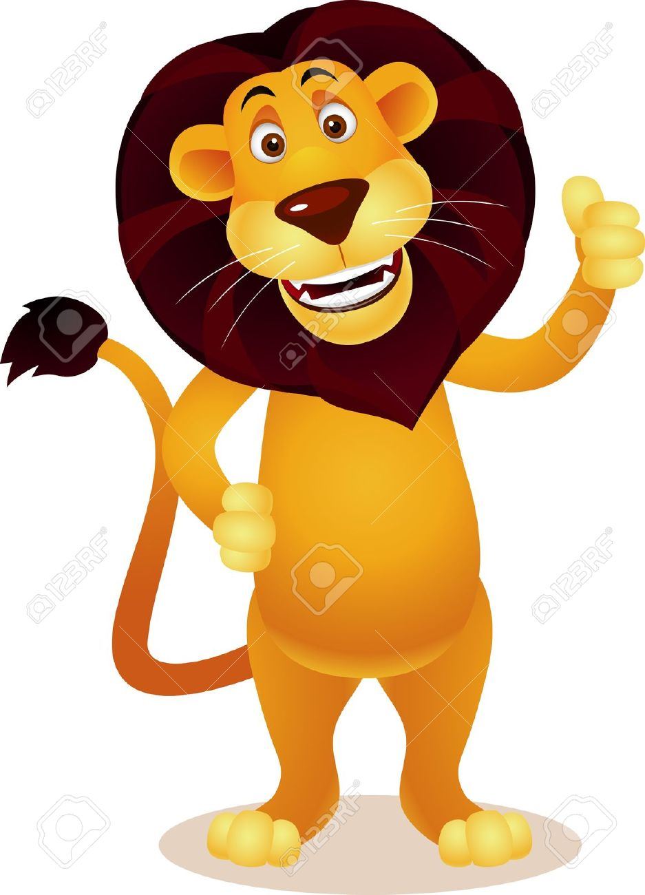 Lion clipart funny #2