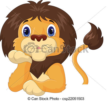 Lion clipart funny #7