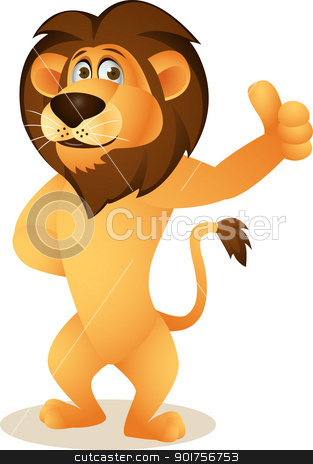 Lion clipart funny #6