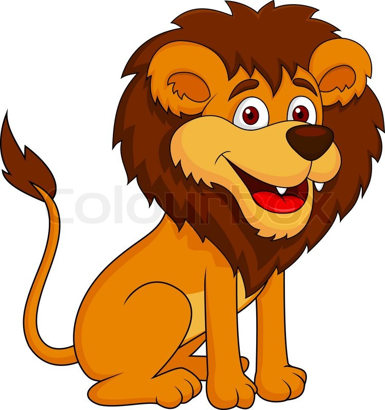 Lion clipart funny #4