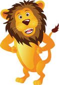 Lion clipart funny #9